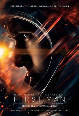 First Man Ryan Gosling Poster A4 A3 A2 A1 Cinema Movie Large Format
