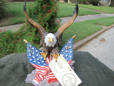 "American/Eagle with Flag Hand Painted Porcelain Figure ""Beautiful"""