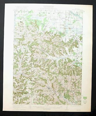 Kendall Wisconsin Vintage 1921 USGS Topo Map Tomah 15-minute Topographical