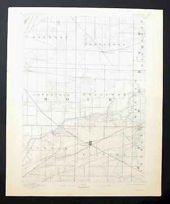Shopiere Wisconsin Rare Antique USGS Topo Map 1893 Janesville Beloit Topographic