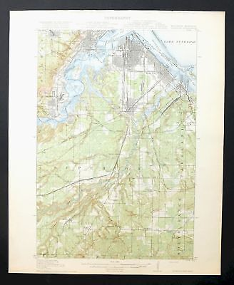Superior Wisconsin Minnesota Antique 1917 USGS Topo Map Duluth Topographical
