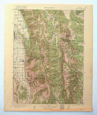 Afton Wyoming Vintage 1921 USGS Topo Map Star Valley Ranch Thayne Topographical