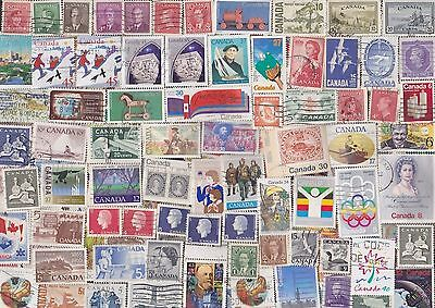 500 All Different Canada Stamps