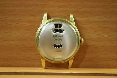 Rare Vintage Le Cheminant Jump Hour 17 Jewels Automatic Watch