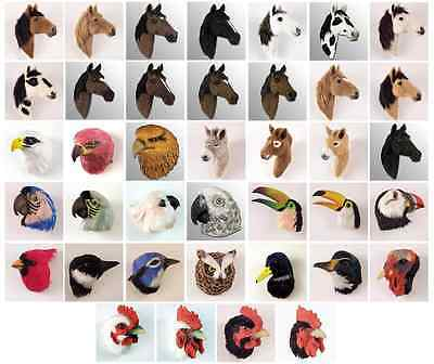 REALISTIC TOUCAN, WHITE BREAST, FEATHER MAGNET! Horses,Dogs, Birds & Animals!