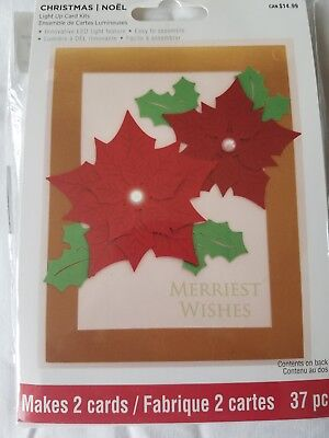 Recollections Light Up Christmas Card Kit Led Easy Makes 2 You