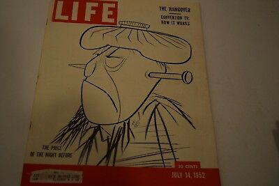 Vintage July 14, 1952 Life Magazine - The Price of the Night Before on Cover