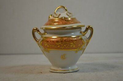 Small English Porcelain Covered Urn