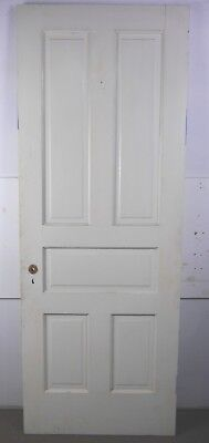 "Antique Vintage 5-Panel Interior Door 79-1/2"" X 29-3/4"" Early 1900's (F5)"