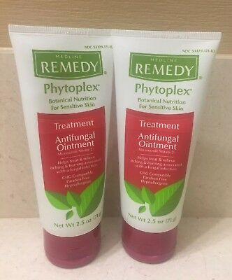 Pack Of 2 Medline Remedy Phytoplex Clear Antifungal Ointment - 2.5 Oz. Tube- New