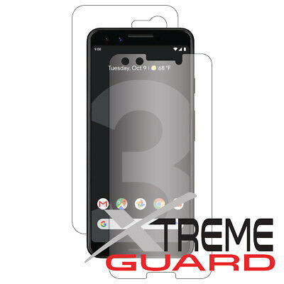 XtremeGuard FULL BODY (Front+Back) Screen Protector For Google Pixel 3