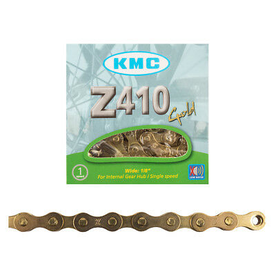 "KMC Z410 1//2/"" X 1//8/"" 112L BMX FIXED CRUISER SINGLE SPEED WHITE BIKE CHAIN"