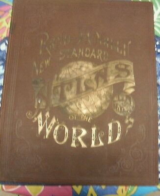 1890 ATLAS  RAND MCNALLY in great shape