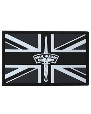 Royal Marines Commando Union Jack Rubber Badge Military Tactical Patch Airsoft
