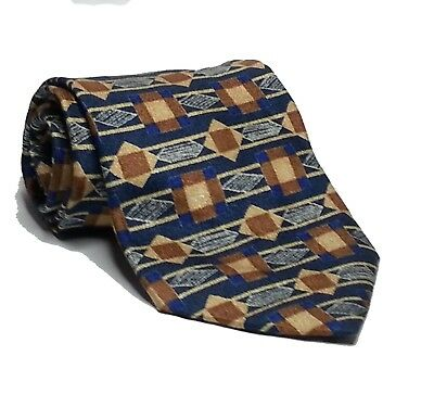 "PLATINUM Collection Men Dress Silk Tie 3-3/4"" wide 57"" Long Black Brown Blue"