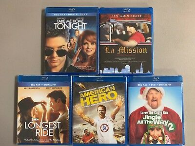 Blu-ray lot New Free Ship LA Mission Longest Ride JATW2 Am Take Me Home Tonight