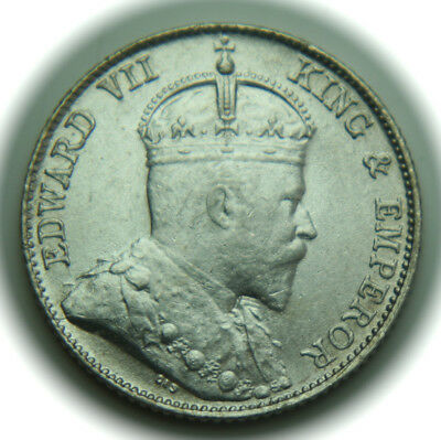 1910 Straits Settlements 10 Cents KM# 21a Silver Coin Edward VII - No Reserve!!