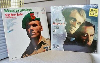 Lot of 2 Vintage TV Man from UNCLE Theme Green Beret Ballads MS-544 LPM-3547  r