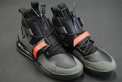 Aq0572 300  New Mens Nike Air Force 270 Utility Sequoia Blk Habanero Red  Le1086 eb78bf5be0