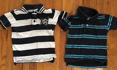 Lot Of 2 Toddler Boy BabyGap Short Sleeve Polo Shirts Size 3T