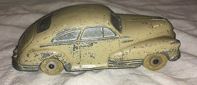Vintage National Products Inc. Metal Tan Toy Car USA