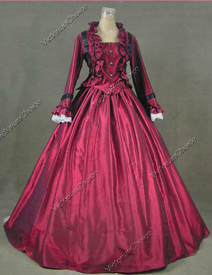 Victorian Dickens Christmas Caroler Dress Ball Gown Theater Clothing 170 XL