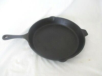 """OLD MOUNTAIN CAST IRON 15.25"""" SKILLET """"THE BIG ONE"""" w/HELPER HANDLE-HOME/CAMPING"""