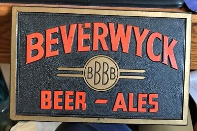 Vintage 1940's Beverwyck Beer - Brewing Co Composition Sign Albany Ny New York