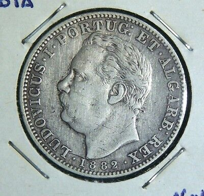 Portuguese India - 1882 1 Rupia - Great Coin!
