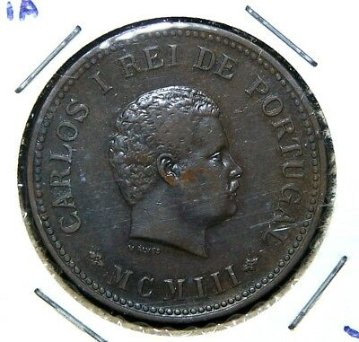 Portuguese India - 1903 - 1/2 (Half) Tanga - Great Coin!