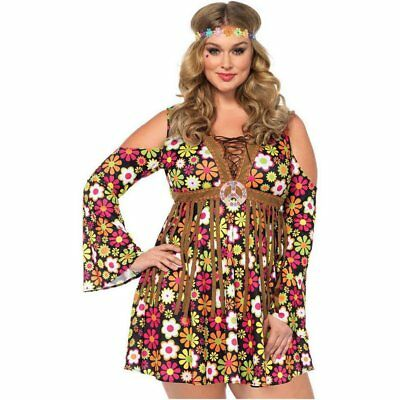 Leg Avenue Starflower Hippie 2PC Womens Plus Costume