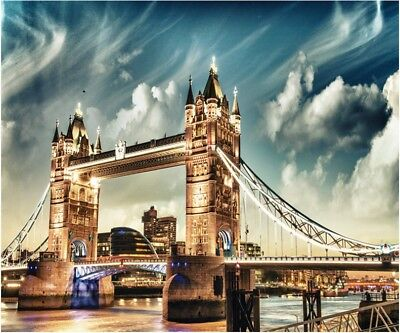 """London Bridge 16X20"""" Paint By Number Kit DIY Acrylic Painting on Canvas Unframed"""