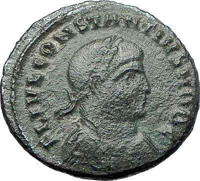 CONSTANTIUS II Constantine the Great son Ancient Roman Coin Camp GATE  i73470