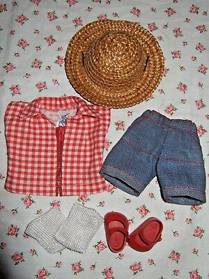VINTAGE 1950's TAGGED VOGUE GINNY TALON ZIPPER KIDS #70/MERRY MOPPETS #34 OUTFIT