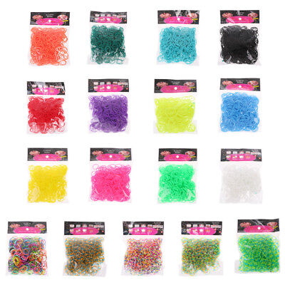 600PCS Rainbow Mega Refill Loom Rubber Bands Bracelets Party Favor Girls Toy