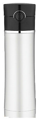 THERMOS LLC Sipp™ Insulated Water Bottle, Stainless Steel with Black Lid 16-oz