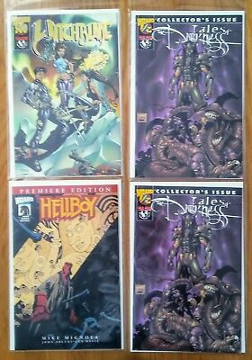 Witchblade #500 & Hell Boy Premiere & Tales Of Darkness 1/2 X 2 Coa Nm