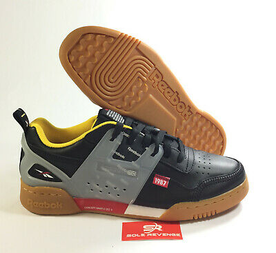 f06e60c6e1b REEBOK WORKOUT PLUS ALTERED DV5242 Black Excellent Red Yellow Alter the  Icon c1