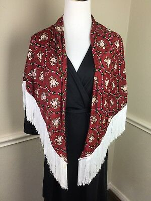 Flamenco Dance Shawl Flamenca Red Mantoncillo