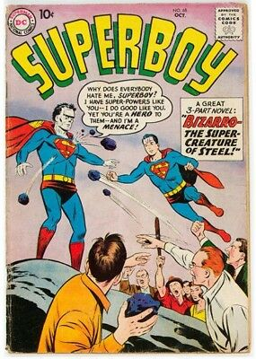Superboy #68 (DC, 1958) Condition: GD. Origin and first appearance of Bizarro. C