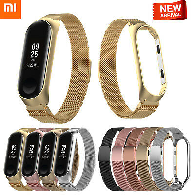 For Xiaomi MI Band 3 Smart Wrist Watch Strap Bands Milanese Loop Stainless Steel