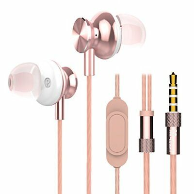 Wired in Ear Earbuds, Mijiaer M30 Stereo Bass Headphones with Microphone Noise