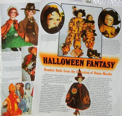Rare History Article - Antique Halloween Boudoir Dolls - Lenci Blossom Sterling