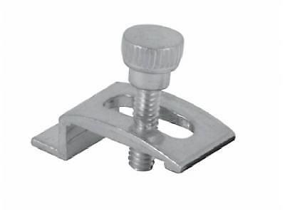 PRIME LINE PRODUCTS Storm Door Panel Clips, Mill Finish, 1/4-In. Offset, 4-Pk.