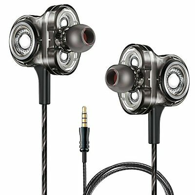 A&S Wired Earbuds,Triple Driver Earphones Deep Bass Stereo Earphones in Ear