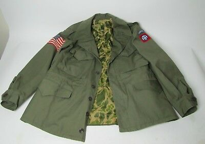 WWII US Army M1943 Field Jacket Rigger Modified Camouflage Airborne Paratrooper