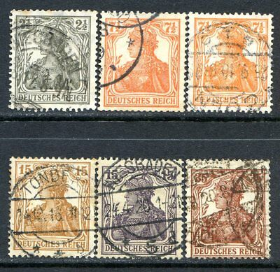 Germany Postage Stamps Scott 97-101 & 98f, Used Partial Set!! G281c