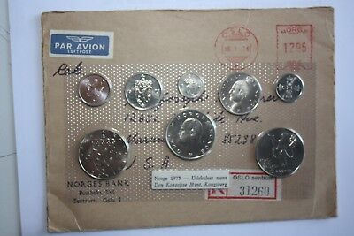 1975 Norway Mint Set 8 Coins 5 - 10 - 25 - 50 Ore 1 - 5 Kroner (3) Uncirculated