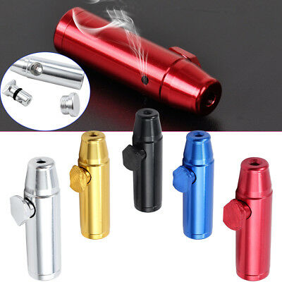 5pcs Metal Snuff Bullet 5 color Dispenser Metal Aluminum Snorter Rocket Box 180°