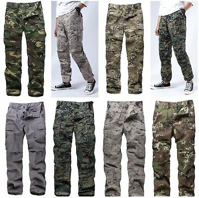 Mens Military Army BDU Pants Casual Camo Pants for work outdoor game hunting